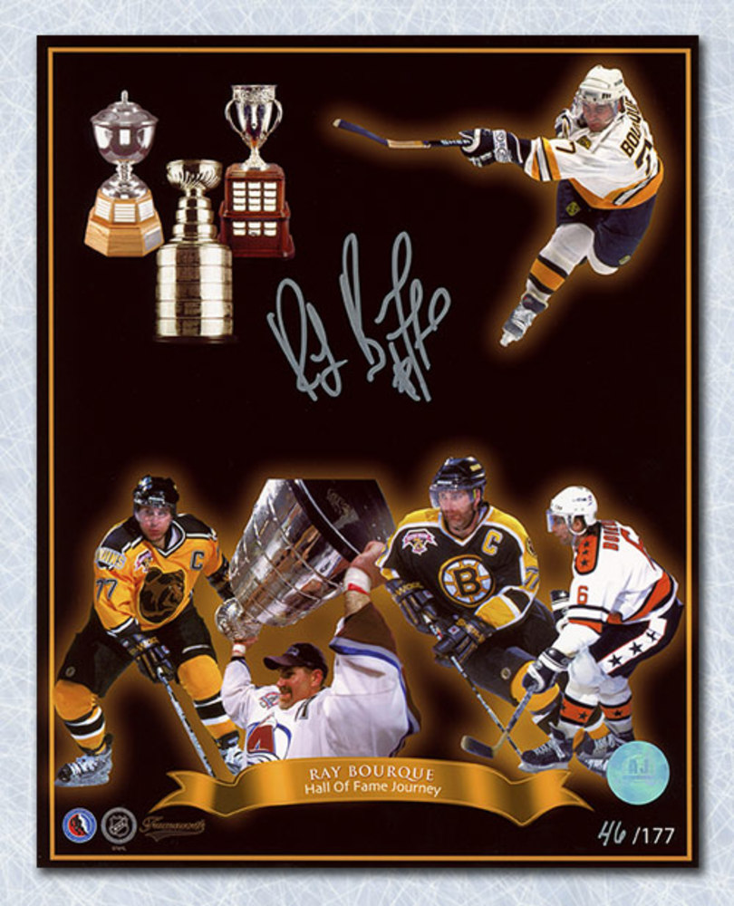 Ray Bourque Hall Of Fame Journey Autographed 8x10 Photo LE #/177