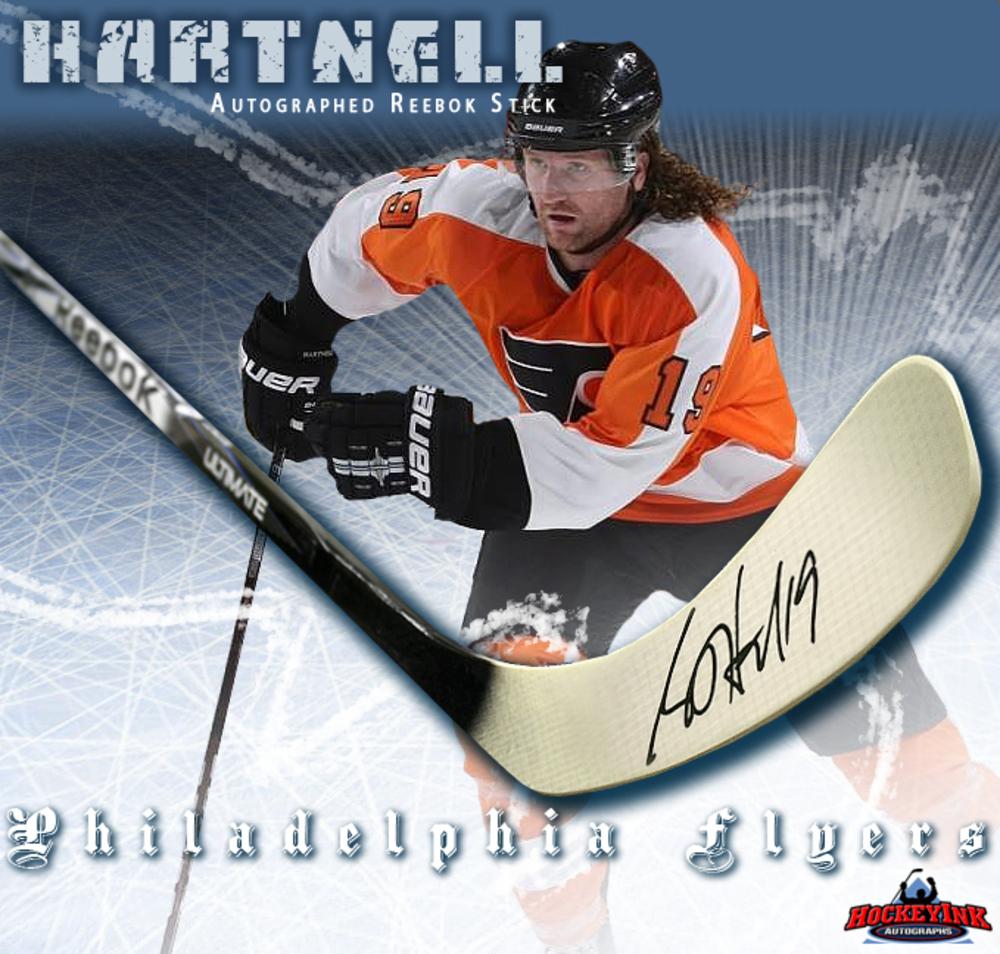 SCOTT HARTNELL Signed Reebok 2K Model Stick - Philadelphia Flyers