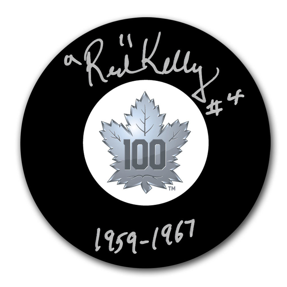 Red Kelly Toronto Maple Leafs 100th Anniversary Autographed Puck