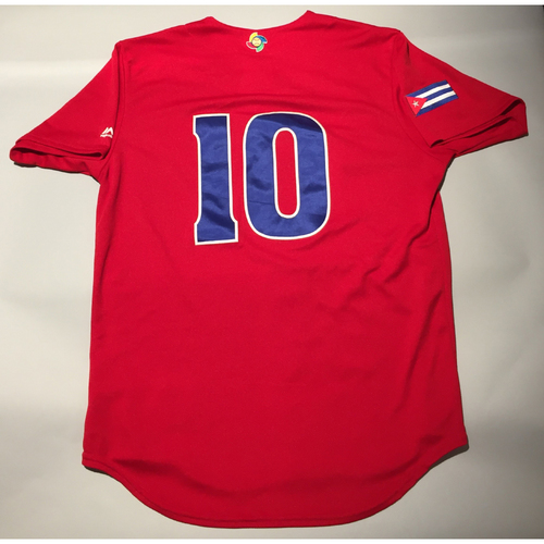 2017 WBC: Cuba Game-Used Batting Practice Jersey, #10