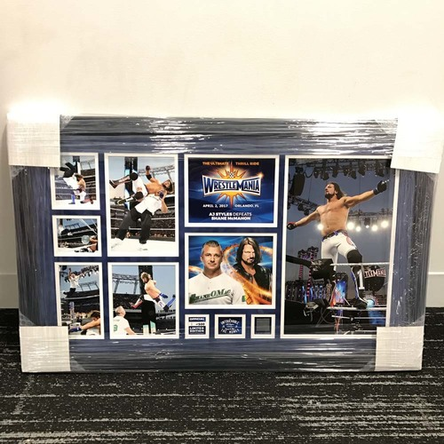 AJ Styles WrestleMania 33 Signed Commemorative Plaque  (#1 of 500)