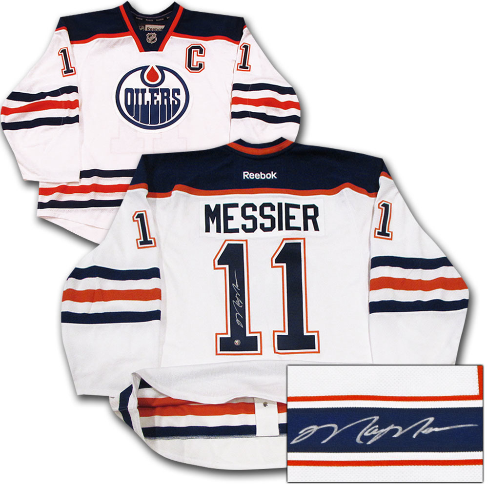 watch 0ce7a d00d8 Mark Messier Autographed Edmonton Oilers Authentic Pro ...