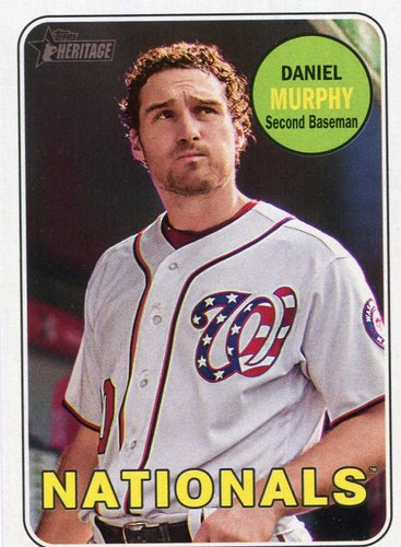 Photo of 2018 Topps Heritage #326 Daniel Murphy