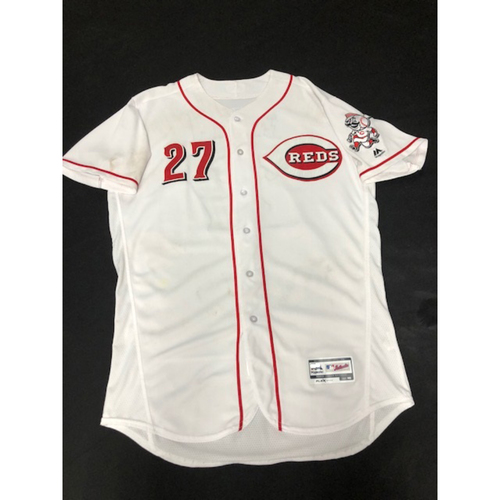 Phillip Ervin -- Autographed/Game-Used Jersey -- 08/30/17 - - NYM vs. CIN - First Start at GABP (CF); First Hit at GABP (Went 1-for-4)
