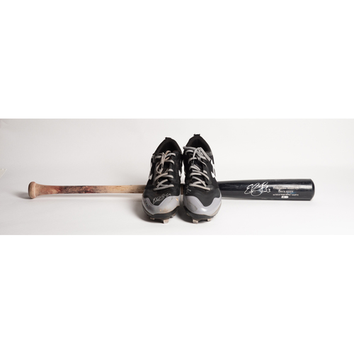 Photo of Autographed Erick Fedde Cleats and Bat - Winning Bidder Can Pick Up Items Directly From Erick on September 24, 2018
