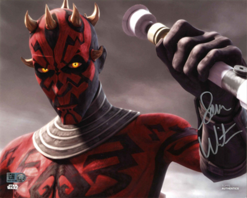 Sam Witwer As Darth Maul 8X10 Autographed in 'Silver' Ink Photo