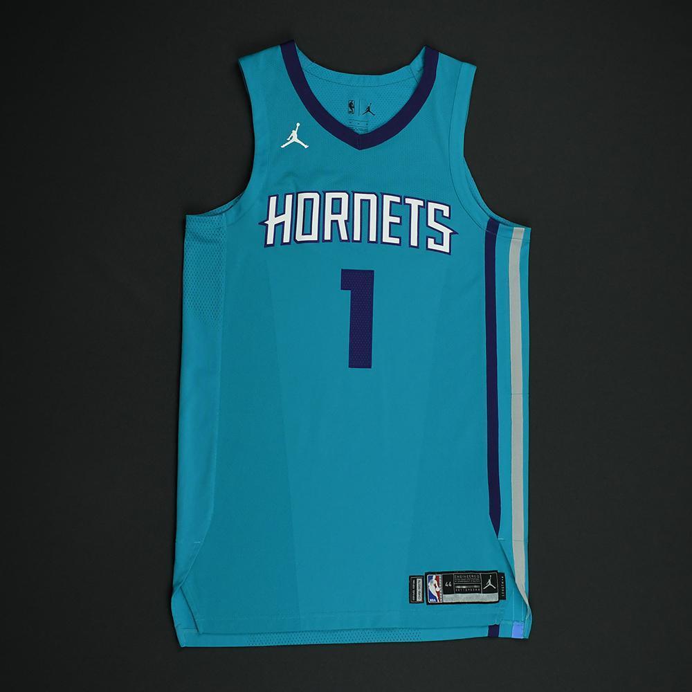 Malik Monk - Charlotte Hornets - Game-Worn Rookie Debut Jersey (Opening Night) - 2017-18 Season