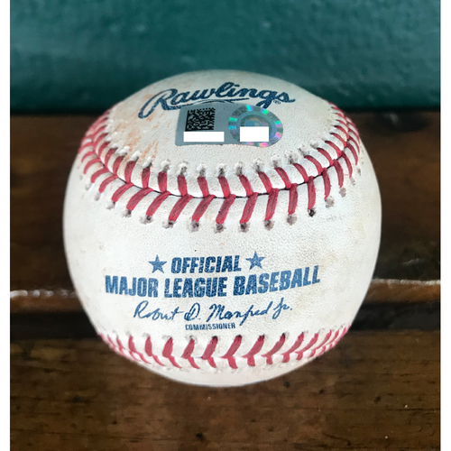 Photo of Cardinals Authentics: Game Used Baseball Pitched by Carlos Martinez to Billy Hamilton, Jose Peraze, Joey Votto, & Scotter Gennett *Double, Sac Bunt, Sac Fly RBI, Ball*