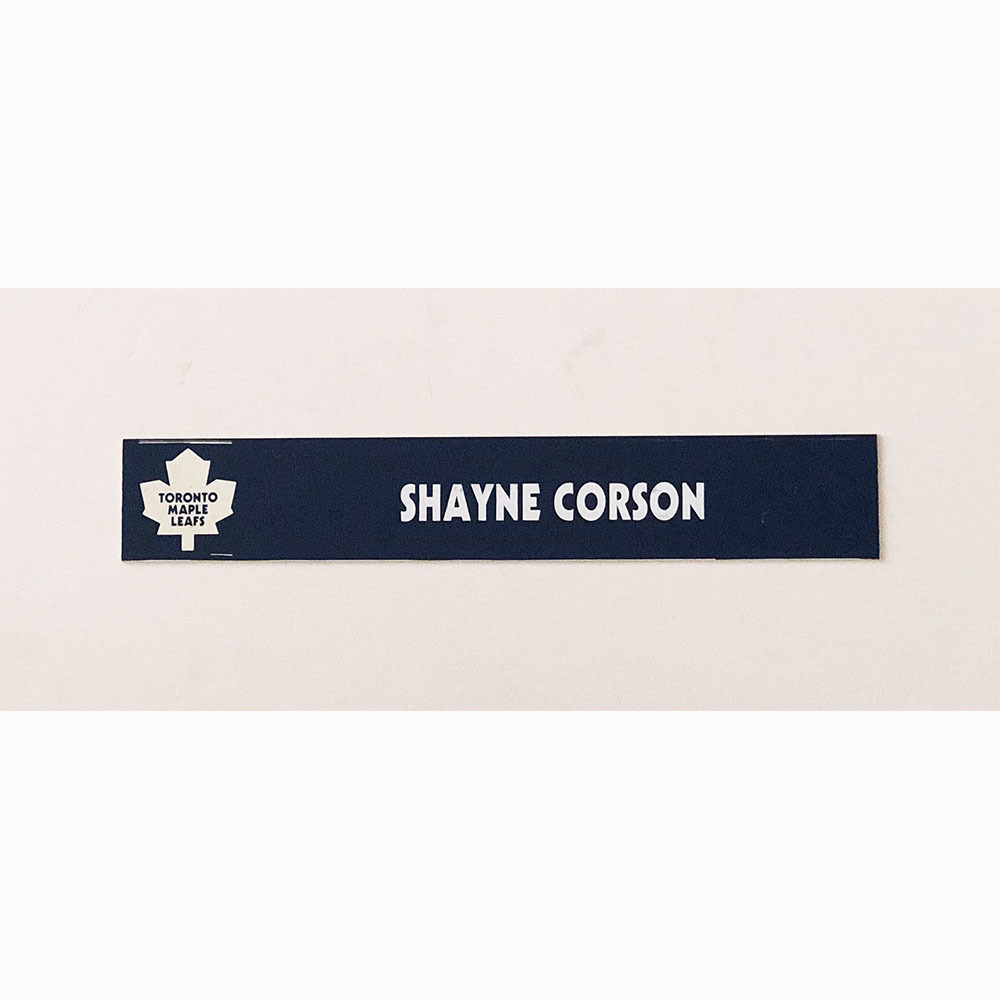 Shayne Corson Toronto Maple Leafs Locker Room Used Nameplate