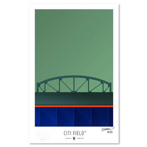 Photo of Citi Field - Collector's Edition Minimalist Art Print by S. Preston #119/350  - New York Mets