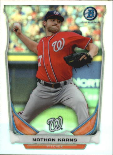 Photo of 2014 Bowman Chrome Bowman Scout Top 5 Mini Refractors #BMWN4 Nathan Karns