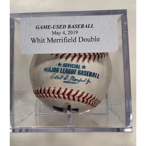 Photo of Game-Used Baseball: Whit Merrifield Double