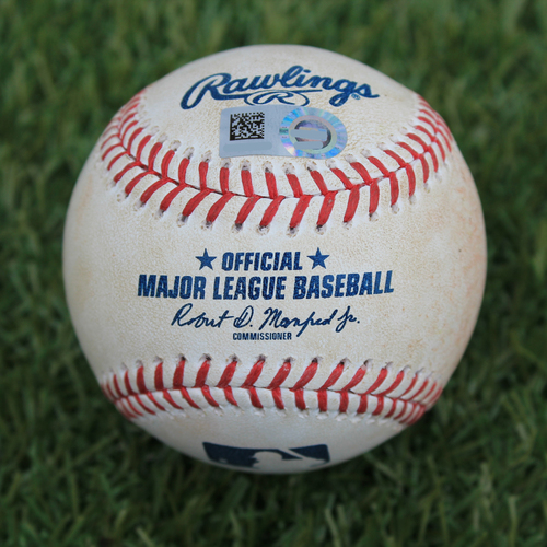 Photo of Game-Used Baseball: Amed Rosario 316th Career Hit (NYM @ KC - 8/16/19)