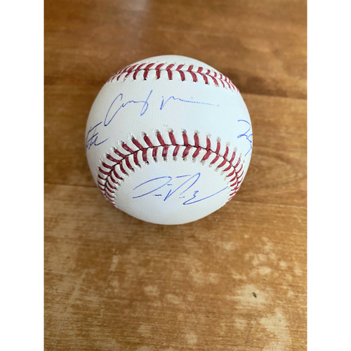 Photo of Casey Mize, Matt Manning, Alex Faedo, and Franklin Perez Autographed Official Major League Baseball (MLB AUTHENTICATED)