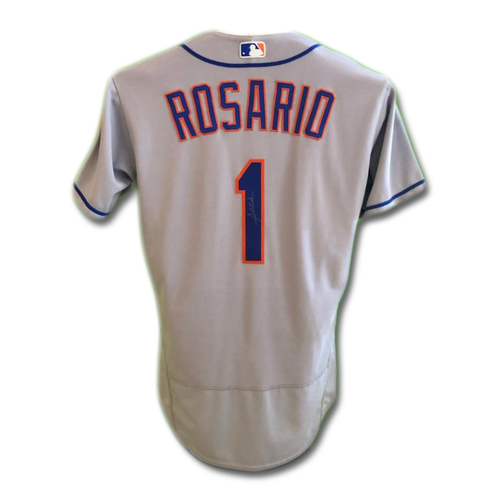 Photo of Amed Rosario #1 - Autographed Game Used Road Grey Jersey - Amed Rosario Rookie Season - Mets vs. Phillies - 9/30/17