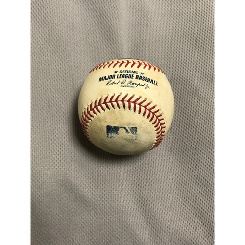 8/1/20 Game-Used HOME RUN Baseball, Dodgers at D-backs: Yoan López vs. Joc Pederson (Singled, Scored Justin Turner) and A.J. Pollock (Home Run, Scored Joc Pederson)