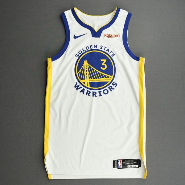 Image of Jordan Poole - Golden State Warriors - Kia NBA Tip-Off and Christmas Day 2020 - Game-Worn Association Edition Jersey