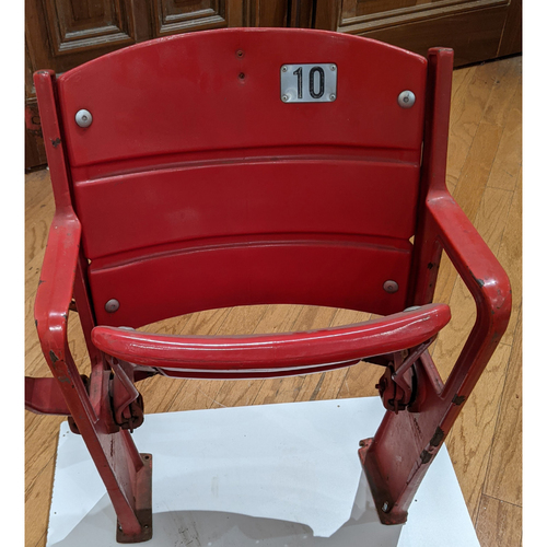Photo of Fenway Park Right Field Roof Box Red Single Seat #10