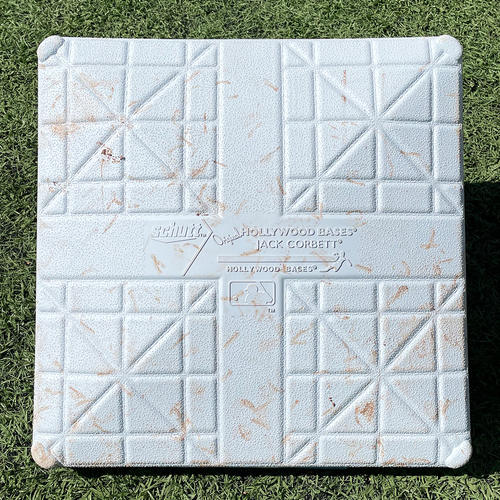 Photo of Game Used Jackie Robinson Day Base - 2nd Base, Innings 4-6 - deGrom Double - Mets vs. Nationals - 4/23/21
