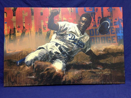 Kershaw's Challenge: Jackie Robinson Canvas Print by Stephen Holland