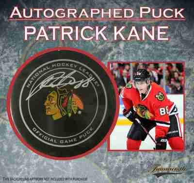 Patrick Kane - Signed Chicago Blackhawks Official Game Puck