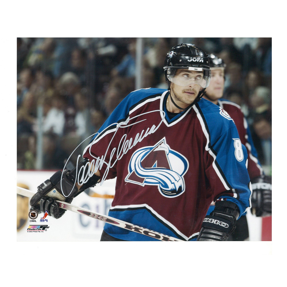 TEEMU SELANNE Signed Colorado Avalanche 8 X 10 Photo - 70112