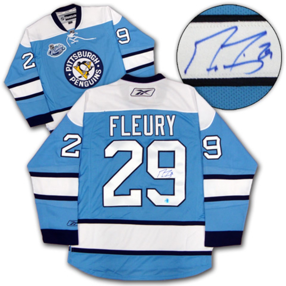 low priced c3cd9 e837b MARC-ANDRE FLEURY Pittsburgh Penguins SIGNED 2008 Winter ...