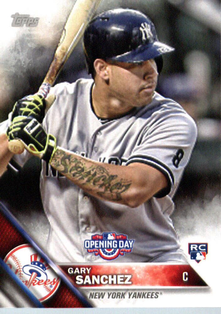 2016 Topps Opening Day #OD146 Gary Sanchez Rookie Card -- Yankees post-season