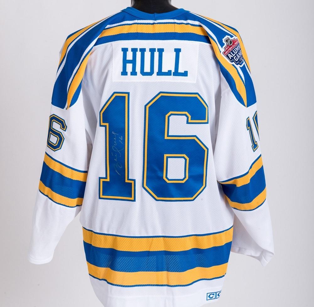 the latest e005c 222bc Brett Hull Autographed Winter Classic Alumni Game-worn ...