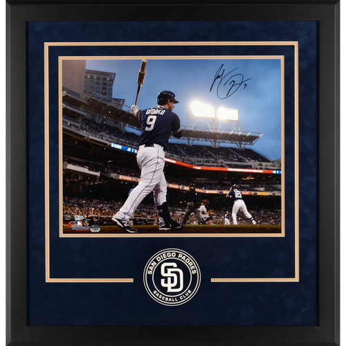"Photo of Jedd Gyorko San Diego Padres Deluxe Framed Autographed 16"" x 20"" On Deck Photograph"