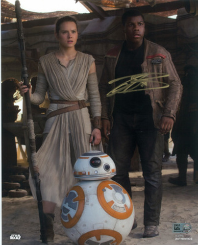 John Boyega as Finn 8x10 Autographed in Gold Ink Photo