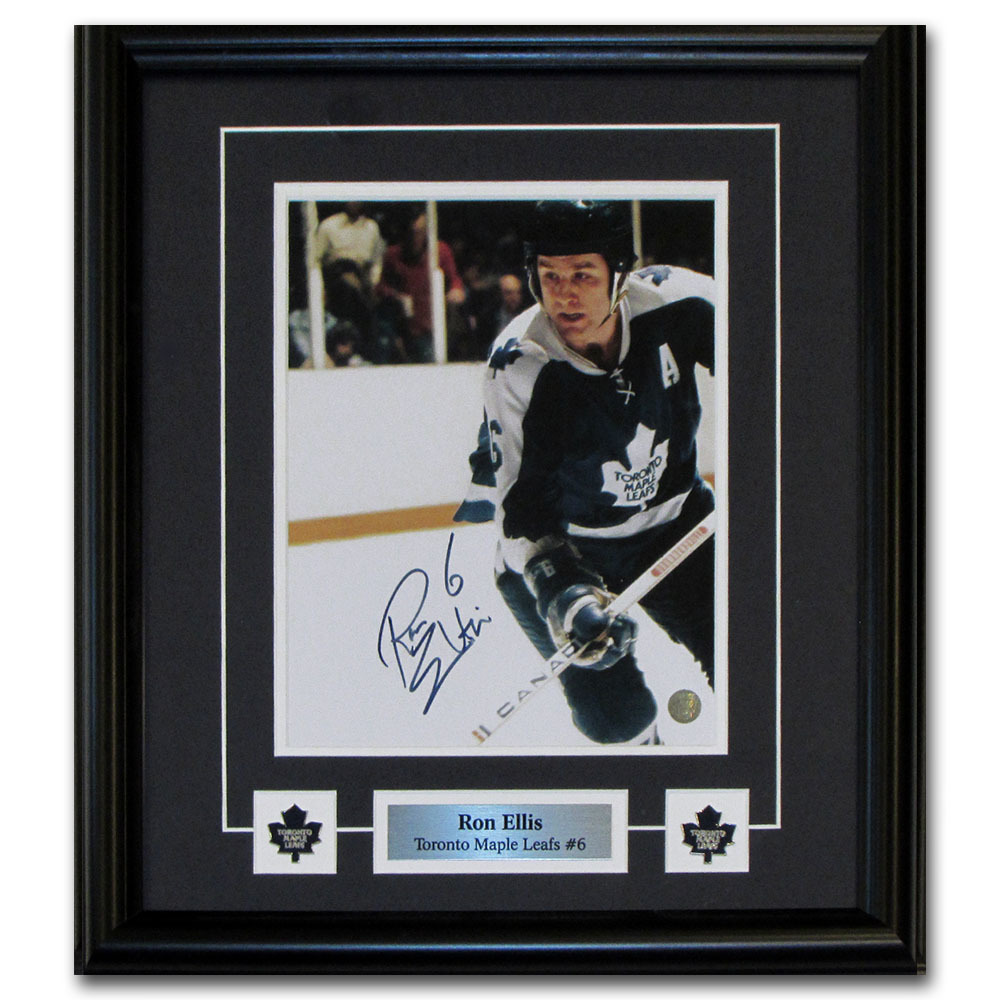 Ron Ellis Autographed Toronto Maple Leafs Framed 8X10 Photo