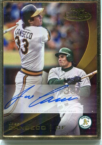 Photo of 2016 Topps Gold Label Framed Autographs Gold Frame #GLFAJC Jose Canseco