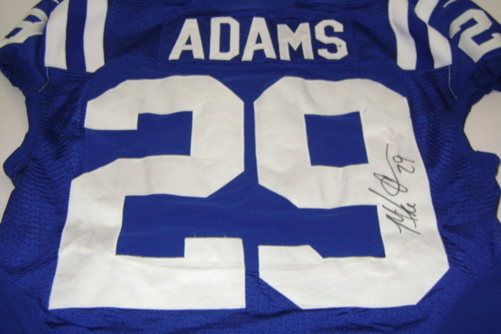 BCA - COLTS MIKE ADAMS GAME WORN AND SIGNED COLTS JERSEY - WASHED BY EQUIPMENT MANAGER (OCTOBER 9, 2016)