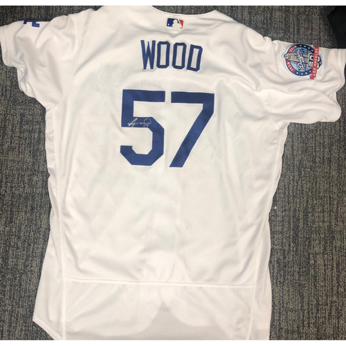 Photo of LA Dodgers Foundation Auction: Alex Wood 2018 Game-Used Autographed LA Dodger Jersey