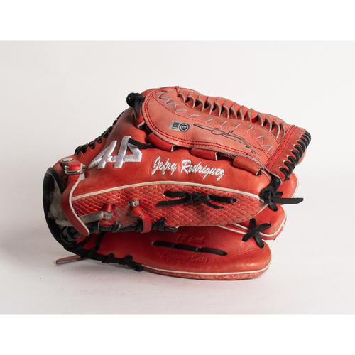 Photo of Autographed Jefry Rodriguez Glove - Winning Bidder Can Pick Up Items Directly From Jefry on September 24, 2018
