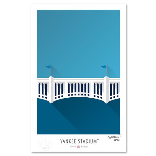 Photo of Yankee Stadium - Collector's Edition Minimalist Art Print by S. Preston #119/350  - New York Yankees
