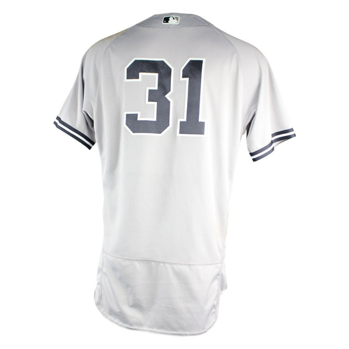 Photo of Aaron Hicks New York Yankees 2018 Road Game Used #31 Jersey (6/27/2018)  (2-4)