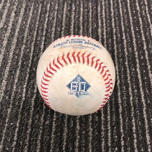 Photo of 2018 Game Used Baseball vs. Milwaukee Brewers on 7/29 B-1: Junior Guerra to Andrew McCutchen - Single to 3B