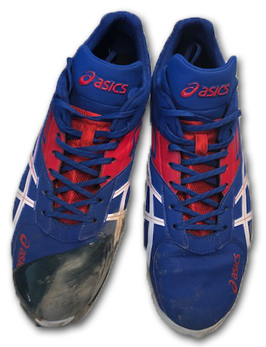 Photo of Yu Darvish Game-Used Cleats -- Size 12 -- Cardinals vs. Cubs -- 5/4/19