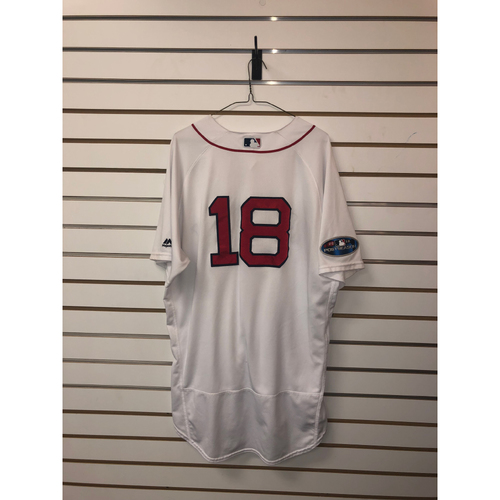 Photo of Mitch Moreland Game Used April 5, 2018 Home Jersey