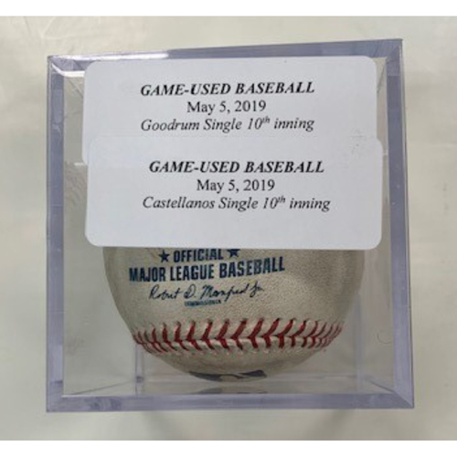 Photo of Game-Used Baseball: Niko Goodrum Single & Nicholas Castellanos Single