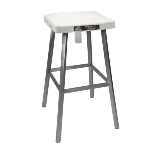 Photo of Tokens & Icons Colorado Rockies Game Used Base Stool