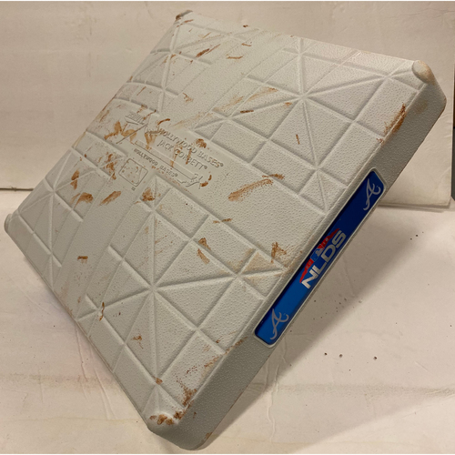 Photo of 2018 NLDS Game Used Base - Third Base Used During 7th Inning - 10/8/18 - Dodgers Clinch