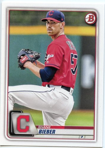 Photo of 2020 Bowman #13 Shane Bieber