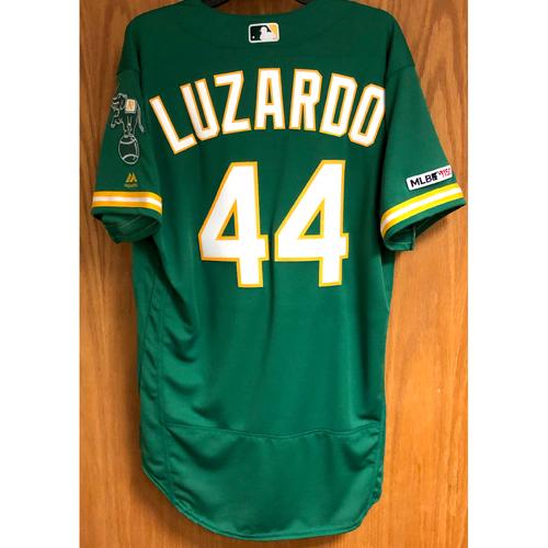 Photo of Team Issued Jesus Luzardo Jersey w/ MLB 150 Patch