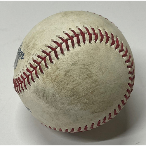 Photo of Game Used Baseball - Shane Bieber strikes out Cesar Hernandez and Bryce Harper - 9/20/2019 Phillies at Indians