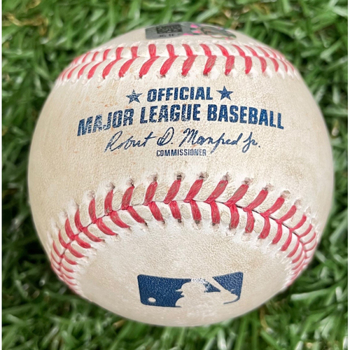 Photo of Game Used ALWCS Game #2 Baseball: Travis Shaw single off Tyler Glasnow - Top 2 - September 30, 2020 v TOR