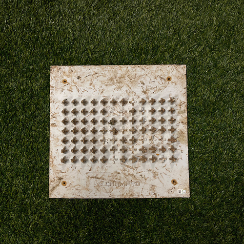 Photo of Minnesota Twins: 2021 Game-Used Cleat Cleaner from Joe Ryan's MLB Debut against the Chicago Cubs 9/1/2021