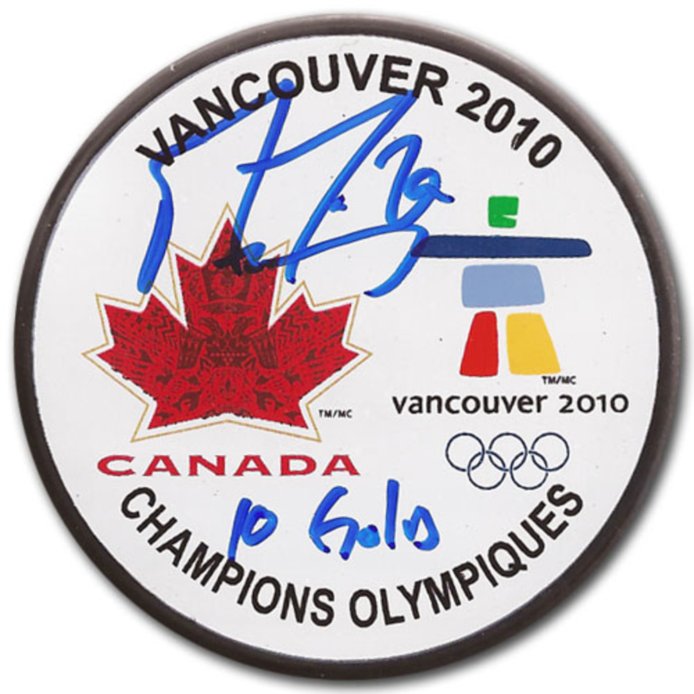 Marc-Andre Fleury Autographed  Team Canada 2010 Olympic Champions Puck (Pittsburgh Penguins)